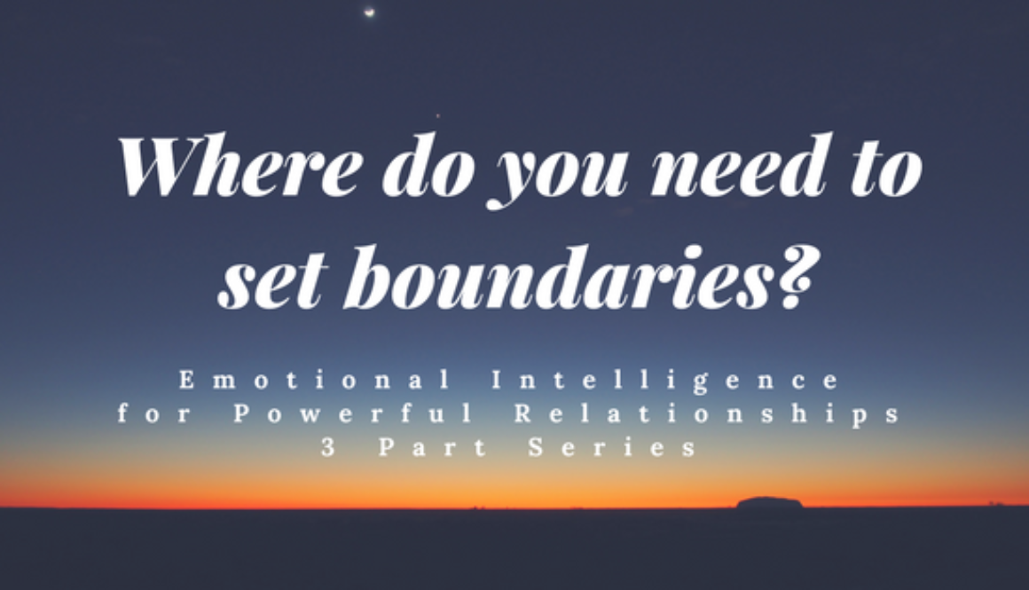 Where do you need to set boundaries?