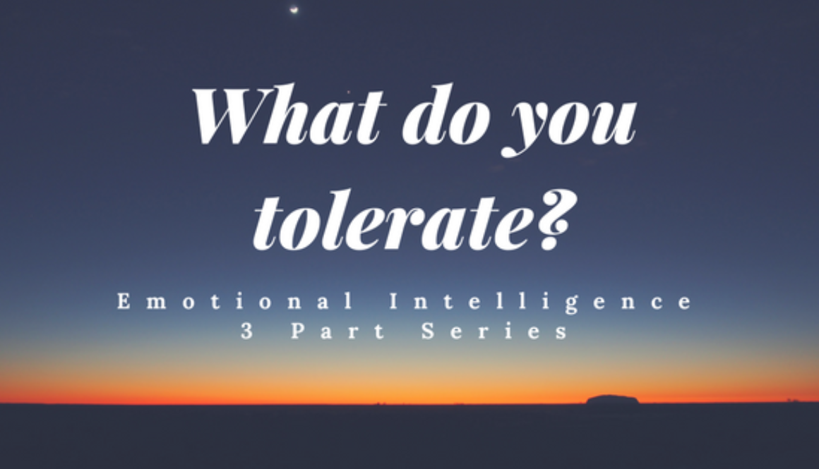 What do you tolerate