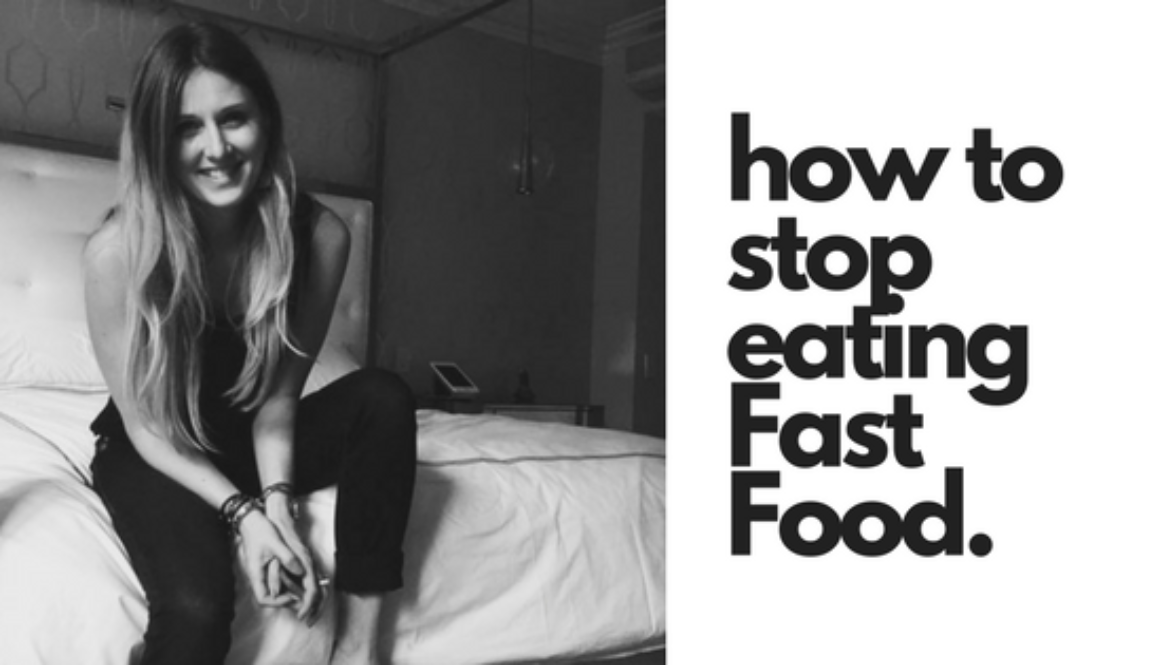 how to stop eating Fast Food. (1)