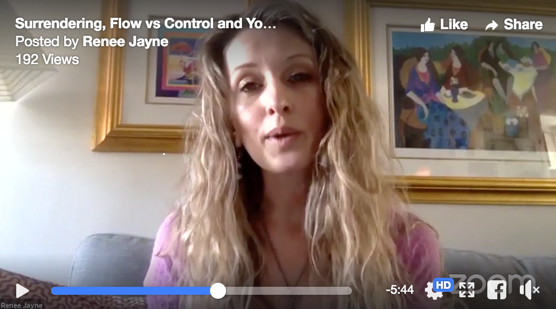Surrendering, Flow vs Control and Your Lymphatic System
