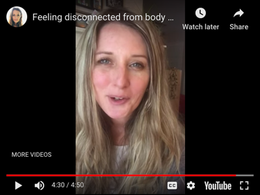 Feeling disconnected from your body and breath